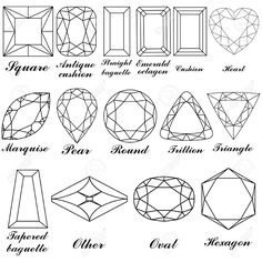 faceted jewel line drawing - Google Search
