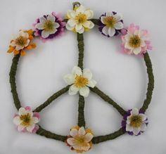 Hippie Wall Art, Peace Sign, Boho Hippie Decor, College Dorm Decor, Apartment Wall Art, Girl Room, Teen Room, Home Decor Sign, Colorful Art on Etsy, $29.95