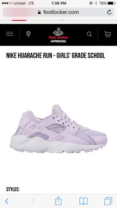 For back to school season and for summer as well, this violet color goes well with any outfit and color!! If you have a foot locker go get them today for only 85 dollars in the USA!!