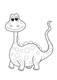 Funny Dinosaur coloring page for kids, printable free