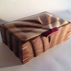 Sculpted Keepsake Box In Walnut, Maple & Cherry by Lucas Brown