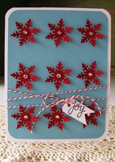 Joy Snowflake Card. via Etsy.