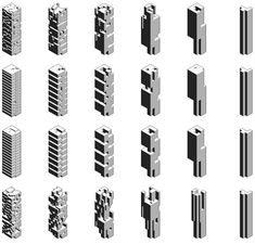 Density Openness Revisited: Recoding Building Bulk in Hong Kong, Hong Kong Shenzhen Biennale Rocker Lange Architects, Christian J. Typology Architecture, Concept Models Architecture, Architecture Drawings, Architecture Design, Architecture Diagrams, Genius Loci, Arch Building, Arch Model, Cube Design