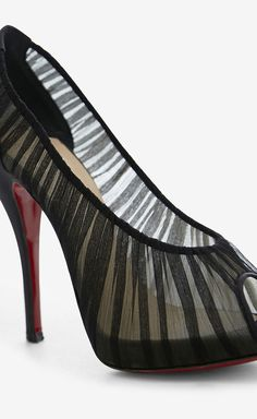 Christian Louboutin Black Peeptoe: Love it