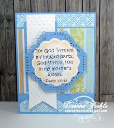 Inspired Stamps Scripture Baby Cards