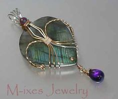 ❤ My Signature Heart Wrap: Labradorite and Amethyst in Gold Fill and Sterling Silver.