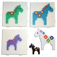 Dala horse Hama perler pattern