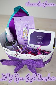 DIY Spa Gift Basket -- a fun gift for Mother's Day or Teacher Appreciation Week!