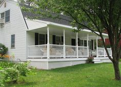 front porch split level house | ... to a shallow pitch at the porch we re often asked how to build a porch