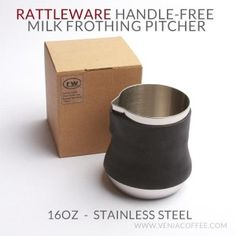 Rattleware Handle Free 16oz Stainless Steel Milk Frothing Pitcher