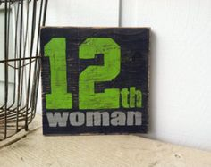 Seattle Seahawks 12th WOMAN Hand Painted Sign