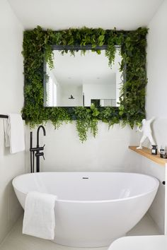 Monday Inspiration: Beautiful Rooms - Mad About The House Bathroom Design Inspiration, Bathroom Interior Design, Bathroom Plants, Bathroom Ideas, Budget Bathroom, Bathrooms With Plants, Small Bathroom, Bathroom Feature Wall, Bathroom Shop