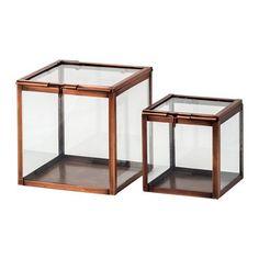 IKEA - KOMBINERBAR, Dekoration Glasbox 2er-Set
