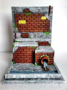 Cenário Diorama Escenario TMNT Tartarugas Ninja Teenage Mutant Ninja Turtle Tortuga Ninja