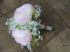 Peony lilies of the valley artificial bridal by DressMyWedding