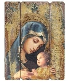 ~ Pin on Catholic Christmas ~ The Madonna and Child decorative panel. Beautiful and ready to hang! Catholic Gifts, Catholic Art, Religious Art, Catholic Relics, Blessed Mother Mary, Divine Mother, Virgin Mary Art, Decorative Wall Panels, Mary And Jesus