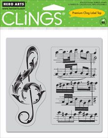 Musical Clef Cling Stamp from Hero Arts