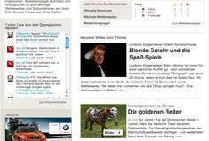 212 The pictures are small and not at the top of the webpage, which shows that they aren't placing lots of emphasis on these pictures. The subjects in both photos are facing towards the respective headline and article, which draws the audience's attention to the headlines. German athletes don't appear to be given celebrity status because none of the articles are focusing on the athletes of the country specifically.