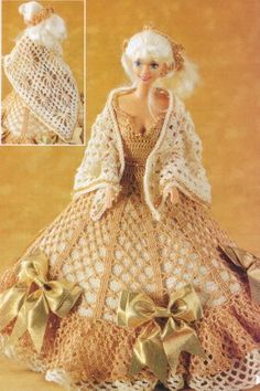 Super dress for Ms. Barbie with diagram.