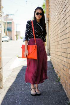 Polka Dots pleats and colors