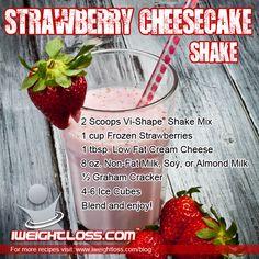 ViSalus Strawberry Cheesecake Shake Recipe: http://www.iweightloss.com/blog/visalus-strawberry-cheesecake-shake/ #visalus #bodybyvi #vishape #shakes