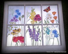 antique window painging ideas | Hand Painted Window Panes, Sage Bundles, Mirrors & Memory Windows ...