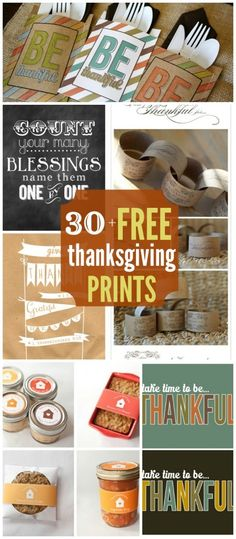 30+ Thanksgiving Printables