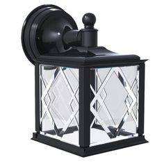Newport Coastal Spyglass Black Outdoor Wall-Mount Downlight-7972-16B - The Home Depot