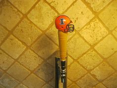 NCAA Illinois Fighting Illini Kegerator Beer Tap Handle