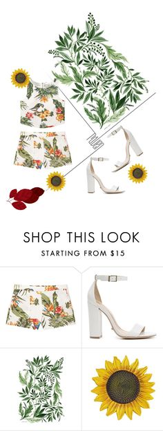 """""""tropical look"""" by divaangelique ❤ liked on Polyvore featuring MANGO and Schutz"""