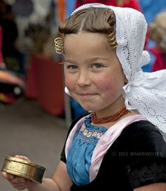 A young girl from Zeeland, Netherlands
