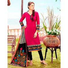 Party Wear Readymade Pink Salwar Suit - 79806