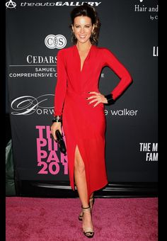 Kate Beckinsale = red dress perfection