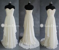 Elegant and simple white floor-length prom dress/evening dress/party dress $164.99