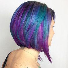 Pulp Riot mermaid hair colour - blue purple green turquoise