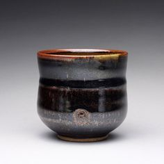 handmade ceramic cup tea bowl tumbler with by rmoralespottery