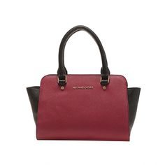 Michael Kors Selma Large Color-Block Leather Handbag