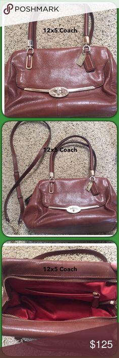 Luxurious cognac leather satchel 12x5 Gently loved bag with cross body strap. Only sign of use is on the turn lock.  Beautiful bag 👛 Coach Bags