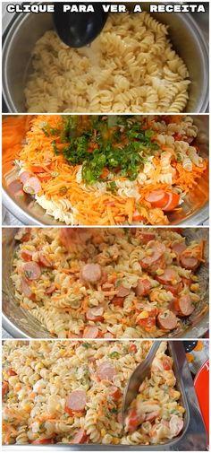 Receita de Refeição: Macarronese da Cris, uma super completa e gostosa opção de almoço ou jantar! #macarrão #massa #refeição #prato #almoço #jantar #receita #gastronomia #culinaria #comida #delicia #receitafacil