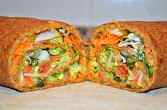 wrap vegetal de masa de lentejas. vegetal wrap made of lentils