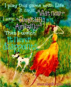 14x11 (approximate)  archival print of original colorful whimsical artwork by Marabeth Quin