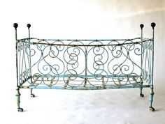 head over heels in love with this one ... antique French lit de bébé/cot/crib -- 1860-1900's