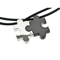 M+Y STEEL Love Puzzle Couples Pendant