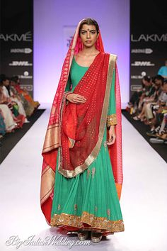 Gaurang Shah Lakme Fashion Week Gaurang Shah Collection, Designs, Fashion Shows, Lehengas & Sarees, Pictures and Photos on Bigindianwedding Pakistani Outfits, Indian Outfits, Couture Fashion, Fashion Beauty, Desi Clothes, Indian Clothes, Lakme Fashion Week, International Fashion, Indian Dresses