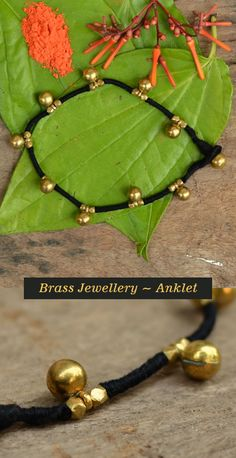 Buy handmade brass jewelry by Srijan. Jewelry in India has always fascinated me and the t Jewelry Design Earrings, Gold Earrings Designs, Anklet Jewelry, Gold Jewellery Design, Gold Necklace Simple, Gold Jewelry Simple, Antique Jewellery Designs, Anklet Designs, Fabric Jewelry