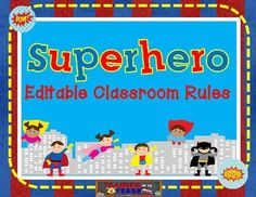 This is a perfect addition to your superhero themed classroom! I've included all sorts of rules, so you're able to pick and choose what you are interested in.  If I didn't list a rule you have for your classroom, you're in luck! I also included a  blank and editable slide for you to customize and type in your own rule!