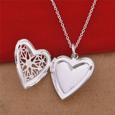 925 Sterling Silver Necklace Floating Lockets Necklaces & Pendants Coronary heart Form Star Sample Residing Locket Friendship Presents - Silver Jewellery 925 - SHOP NOW