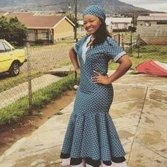 Newest Shweshwe Dresses for modern women, The fashions and styles are assorted and it's affable to s African Attire, African Wear, African Dress, African Outfits, African Clothes, Traditional Dresses Designs, African Traditional Dresses, Latest African Fashion Dresses, African Print Fashion