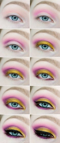 Dressed in Mint: make up. - AZTEC Gold / step by step