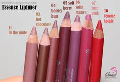 Essence Lipliner: best budget lip liner new shades in my collection!